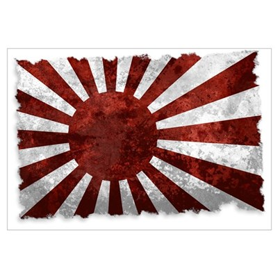 Japanese Rising Sun Flag Poster