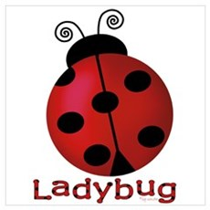 Cute Ladybug Canvas Art