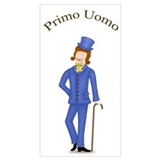 Brown Hair Primo Uomo in Blue Suit r Poster