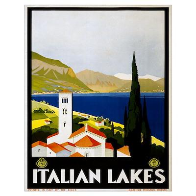 Italian Lakes Travel Poster