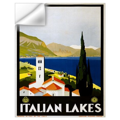 Italian Lakes Travel Wall Decal