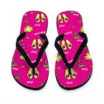 Pink Summer Flip Flops