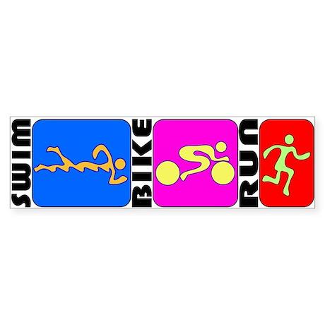 TRI Triathlon BANNER Sticker (Bumper)