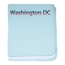 Washington DC Stars and Strip baby blanket