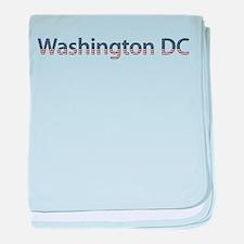 Washington DC Stars and Strip baby blanket