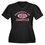 Property of Zariyah Women's Plus Size V-Neck Dark