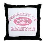 Property of Zariyah Throw Pillow