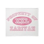 Property of Zariyah Throw Blanket