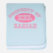 Property of Zariah baby blanket