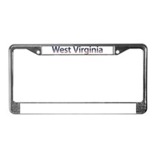 West Virginia Stars and Strip License Plate Frame