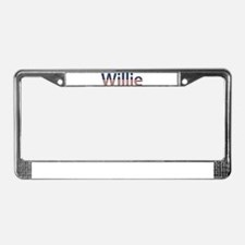 Willie Stars and Stripes License Plate Frame