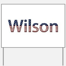 Wilson Stars and Stripes Yard Sign