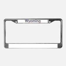 Wyoming Stars and Stripes License Plate Frame