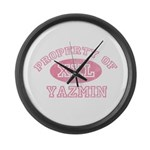 Property of Yazmin Large Wall Clock