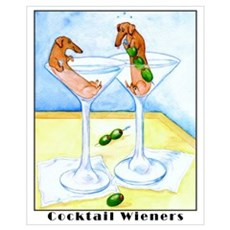 Cocktail Wieners Canvas Art