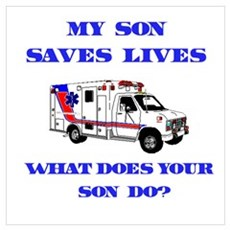 Ambulance Saves Lives-Son Framed Print