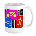 TRI Triathlon COLORS Large Mug