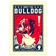 Obey the English Bulldog! Canvas Art