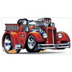 37 Seagrave Fire Truck Framed Print