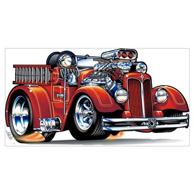 37 Seagrave Fire Truck Poster