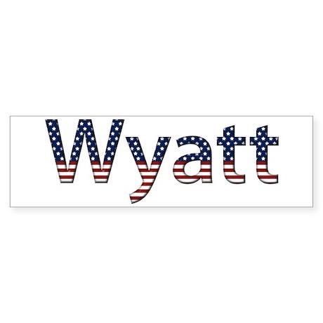 Wyatt Stars and Stripes Bumper Sticker
