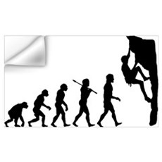 Rock Climber Wall Decal