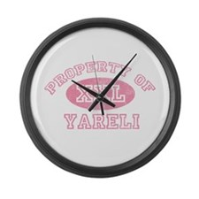 Property of Yareli Large Wall Clock
