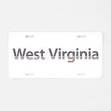 West Virginia Stars and Stripes Aluminum License P