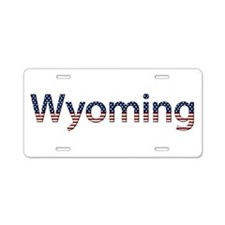 Wyoming Stars and Stripes Aluminum License Plate