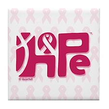 Think Hope (DkPink/White) Tile Coaster