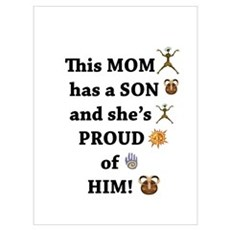 THIS MOM IS PROUD OF HER SON Framed Print
