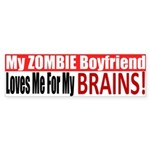 Zombie Boyfriend Sticker (Bumper)