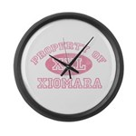 Property of Xiomara Large Wall Clock