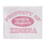 Property of Ximena Throw Blanket