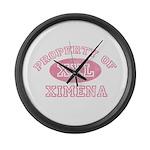 Property of Ximena Large Wall Clock
