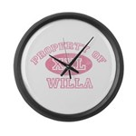 Property of Willa Large Wall Clock