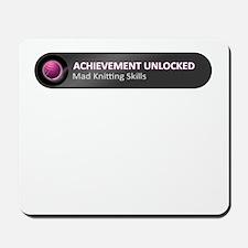 Mad Knitting Skills Achievement Mousepad