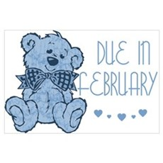 Blue Marbled Teddy Due In February Framed Print