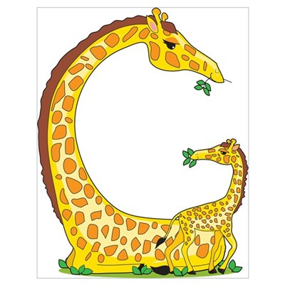 Animal Alphabet Giraffe Poster