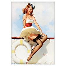 Anchors Aweigh Navy Pinup Girl