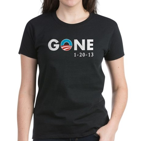 Obama Gone Women's Dark T-Shirt