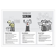 The Roles of Scrum (Male ScrumMaster) Canvas Art