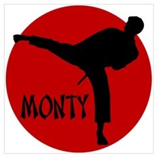 Monty Martial Arts Poster