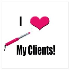 I Love (Heart) My Clients (Pi Poster