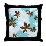 Leaves of Teal Throw Pillow