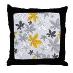 Leaves of Grey Throw Pillow