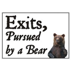 Exits, Pursued by a Bear Framed Print