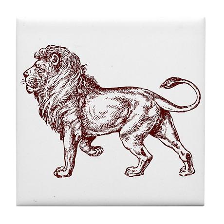 Lion Art Illustration Tile Coaster