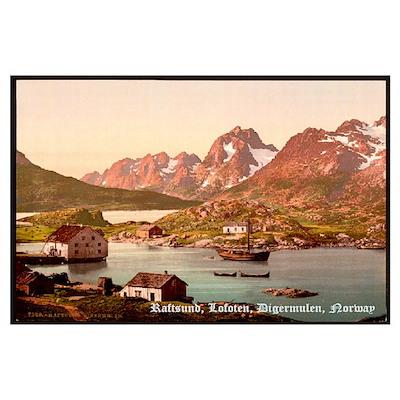 Raftsund, Lofoten, Digermulen Poster