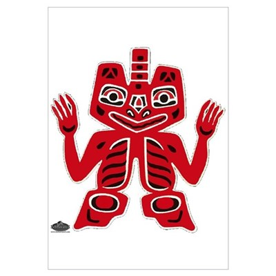 Native American totem Canvas Art